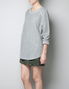 VELOURS SWEATER SPECIAL WAFFLE - T-shirts - Dames - ZARA