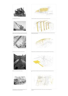 Programmatic sections, Parc de la Villette, competition