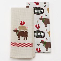 "Christmas Farm Animals Stack Kitchen Towel Set- 2 Piece- 16.5"" x 26"" St. Nicholas Square http://www.amazon.com/dp/B019KH48QA/ref=cm_sw_r_pi_dp_1aUdxb1XPK18Z"