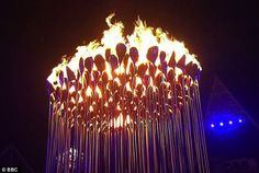 'We were aware cauldrons had been getting bigger, higher, fatter as each Olympics happened and we felt we shouldn't try to be even bigger than the last ones.' The London Organising Committee of the Olympic Games also requested the flame be powered by natural gas.  'We are constantly monitoring the flow rate to ensure the minimum quantity of gas is burned.'