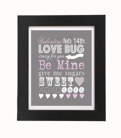 Valentine Wall Art  LOVE BUG 8'x10' by FoxyCouturePaperCuts, $5.00