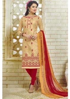 couleur beige coton bhagalpuri costume churidar, -  71,00 €,  #Salwarkameezfrance  #Salwarkameezfemme  #Robeindienne  #Shopkund