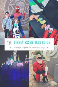 So you have decided to go to Disneyland or Disneyworld for the first time and your thinking to yourself, what should I bring. We have compiled our list of the must-haves to bring with you on your next Disney trip based on multiple trips, with and without children.