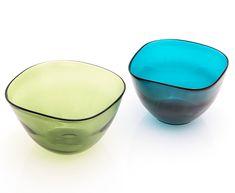 GUNNEL NYMAN - Glass bowls for Riihimäen Lasi Oy, 1930s, Finland. [h. 12,5 cm, 19x19 cm, 20,5x20,5 cm] Modern Glass, Modern Contemporary, Glass Design, Design Art, Stockholm, Retro Vintage, Tableware, Angelfish, Dinnerware