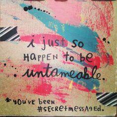 I love me some Mandy.  #secretmessage #art #mixedmedia