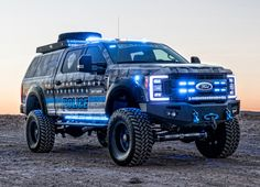 In today's political climate, symbolic tributes to law enforcement are few and far between. The folks at Skyjacker Suspension set out to shift that se. 4x4 Trucks, Custom Trucks, Lifted Trucks, Ford Trucks, Tonka Trucks, Custom Cars, Ford Super Duty, Hot Wheels Cars, Emergency Vehicles
