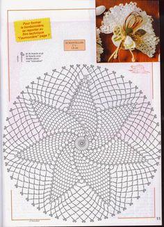 Kira scheme crochet: Scheme crochet no. Free Crochet Doily Patterns, Crochet Doily Diagram, Crochet Circles, Crochet Motifs, Crochet Round, Crochet Chart, Crochet Squares, Filet Crochet, Diy Crochet