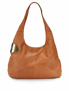 Halston Heritage Leather Sack Hobo/Toffee - Regular Price: $625 - ON SALE $206.99