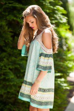 Print dress #swoonboutique
