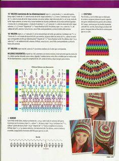 La Magia del Crochet: REVISTA DE GORROS A CROCHET PARA MUJER