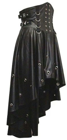 The detail on this leather skirt is amazing. I would like to having something similar to this. This looks heavy but if it had a mix-match of light fabrics and heavy would be the best. - DH