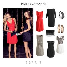 A beautiful red dress is the perfect choice for all kinds of celebrations. Which style would you opt for in a dress? #esprit