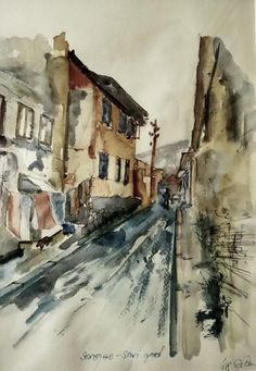 """""""Old town, Sarajevo."""" #Creative #Art in #painting @Touchtalent"""