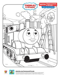 Thomas Friends Holiday Coloring Sheet ThomasandFriends PBSKids