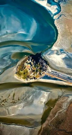 aerial view of Mont Saint-Michel, Normandie, France Places Around The World, Oh The Places You'll Go, Places To Travel, Places To Visit, Segway Tour, Wonderful Places, Beautiful Places, It's Wonderful, Beautiful Buildings