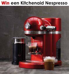 Al sinds het begin van de twintigste eeuw is KitchenAid dé keukenhulp voor iedere kok. Op Wonenonline maak je nu kans op een Kitchenaid apparaat naar keuze! http://www.wonenonline.nl/woon-design-prijzen-winnen/win-een-kitchenaid-nespresso.html