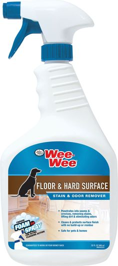 Four Paws Products Ltd-Wee Wee Floor & Hard Surface Cleaner- Honey Vanilla 32 Oz