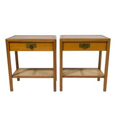 Pair of Top Drawer Nightstands by Michael Taylor for Baker