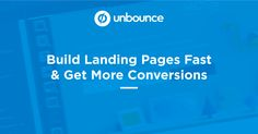 Unbounce helps marketers create, launch and test high-converting landing pages and website overlays. Choose your plan and get started. Promotion Tools, Promotion Ideas, Landing Page Optimization, Planner Writing, Landing Page Inspiration, Best Landing Pages, Content Marketing Tools, Social Share Buttons, Job Posting