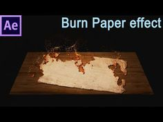 In this tutorial, i'll show you how to create burn paper effect in After Effects. Effects are made with effects available in After Effects. The ash is create. Vfx Tutorial, Cinema 4d Tutorial, Video Effects, Photoshop Effects, Adobe Photoshop, Stop Motion Photography, Burnt Paper, Adobe After Effects Tutorials, Blender Tutorial