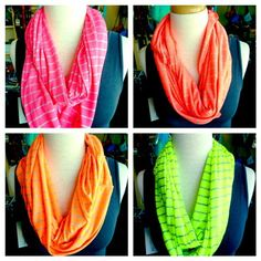 add a pop of color with a neon scarf from hey, daisy!