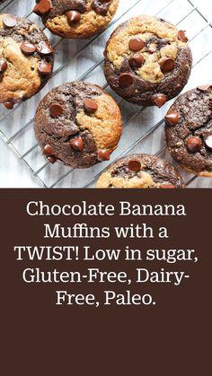 Healthy Breakfast Muffins, Healthy Muffin Recipes, Breakfast Pastries, Breakfast Cookies, Healthy Desserts, Paleo Recipes, Breakfast Ideas, Gluten Free Muffins, Gluten Free Desserts