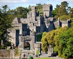 Ashford Castle is a medieval castle built in 1228 that has been expanded over the centuries and turned into a five star luxury hotel near Cong on the Mayo/Galway border in Republic of Ireland.