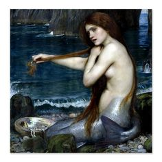 Mermaid by Waterhouse Shower Curtain