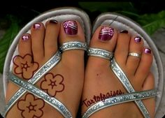 Image detail for -Palm tree - Nail Art Gallery Toenail Art Designs, Pedicure Designs, Pedicure Nail Art, Toe Nail Designs, Toe Nail Art, Pedicure Ideas, Pretty Toe Nails, Cute Toe Nails, Cute Toes