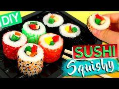 DIY Squishy SUSHI * Cómo hacer SQUISHIES caseros - YouTube