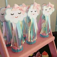 from - Muito amor envolvido 💙💖 Por Unicorn Birthday Parties, Unicorn Party, Birthday Party Themes, Cloud Party, Rainbow Baby, Diy Party Decorations, Baby Shower Themes, Baby Gifts, Diy And Crafts