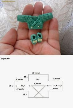 Lasminisdeanalabea: tutorial -- her barbie dolls stuffhow to: mini knitted baby jacket and booties I'm amazed at the talented knitter. Crochet Doll Clothes, Doll Clothes Patterns, Crochet Dolls, Knit Crochet, Crochet Hats, Crochet Beanie Pattern, Crochet Baby Booties, Barbie Et Ken, Knitting Patterns