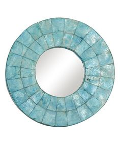 Another great find on #zulily! Turquoise Cameron Round Mirror by Jeffan #zulilyfinds