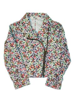 6558c79ac885 H&M Girls Multi Coloured Floral Biker Jacket 5 - 6 Years Designer Kids  Clothes, Ava