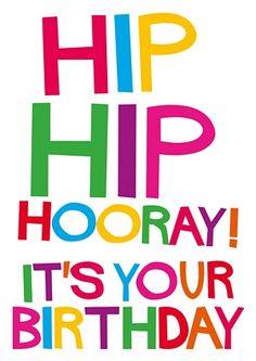 Hip Hip Hooray! It's your Birthday #SHOUT! range from @Dean Kim Kim Morris Cards #greetingcards #birthday #funny