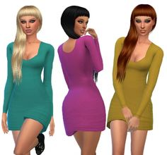 Visage Dress Recolors at Maimouth Sims4 via Sims 4 Updates