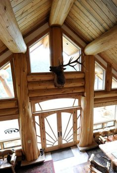 Brian Moore Log Homes.  WOW!