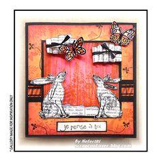 crafty individuals crowned bunnies   Crafty Individuals CI-372 - 'Crowned Bunnies' Art Rubber Stamp, 94mm x ...