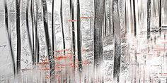 Sabine Wild, wood_0026, 2012 / 2012 © www.lumas.com/ #LumasAbstract,  blurred,  Concept,  Digital,  Digital Art,  Forest,  Forests,  graphic,  Landscape,  Nature,  Photography,  smudged,  Snow,  snowy,  Tree,  tree trunk,  tree trunks,  Trees,  Trunk,  Trunks,  white,  Winter