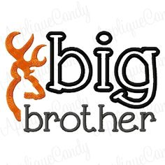 Big Brother Deer Applique
