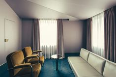 Purple Green and Yellow bedroom design - Art Deco inspired designs of the Hotel Saint Marc luxury boutique hotel in central Paris, France. Retro Interior Design inspiration and images from the hotel featured on the Martyn White Designs Blog