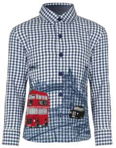 London Theme Shirt | Blue | Monsoon