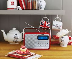 High-gloss DAB/FM Radio in a royal red from Argos is portable making it the perfect picnic companion.