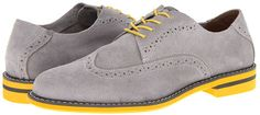 $59, Grey Suede Brogues: Doon Wing by Florsheim. Sold by 6pm.com. Click for more info: http://lookastic.com/men/shop_items/109636/redirect