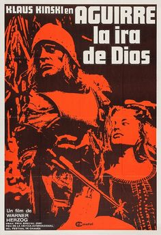 """ajackdawintheattic:  """" the-two-germanys:  """" Aguirre, der Zorn Gottes  Dir. Werner Herzog  Bundesrepublik Deutschland / Peru, 1972  Werner Herzog Filmproduktion / Filmverlag der Autoren / Hessischer Rundfunk / Cinétel / New Yorker Films  """"  Aguirre -Wrath of..."""