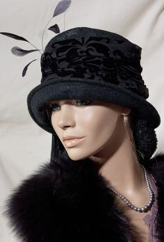c6e2892960a 1920s VIintage Inspired Cloche Hat Great Gatsby Downton £30.00 Flapper Hat