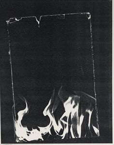 "Wade Guyton [USA] (b 1972)  ~  ""Untitled"", 2008. Xerox print, on wove paper (28 x 21.5 cm). | #art #painting #art_print #abstract_art"