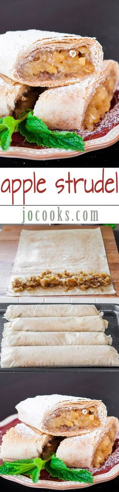Apple Strudel - This amazing recipe will make you enjoy the classic taste of Austrian-style apple strudel made easy with store-bought phyllo, apples and more.