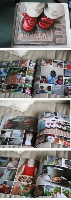 good samples of photo book design with multiple photos. I would have liked comments on the design process, but I guess that wasn't the point!
