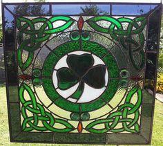 Celtic+Stained+Glass | Celtic Stained Glass Panel. by GlassByRobbyNau on Etsy, $399.00